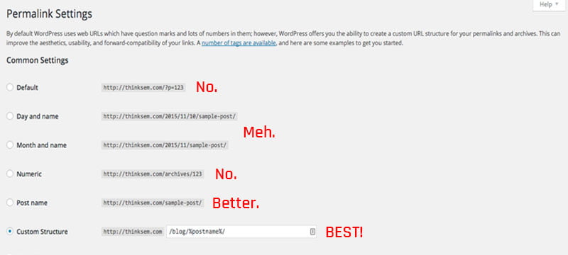 changing default wordpress urls
